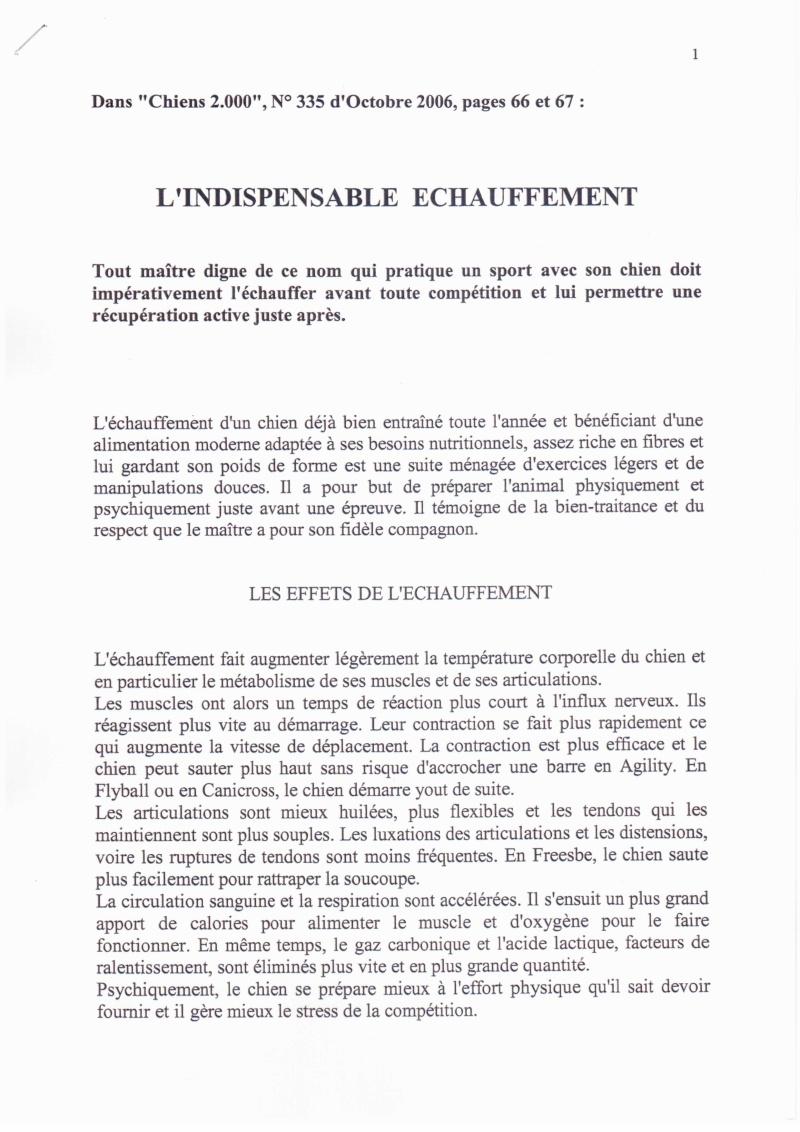 L'ECHAUFFEMENT ET LA RECUPERATION DU CHIEN DE SPORT 1235cn14