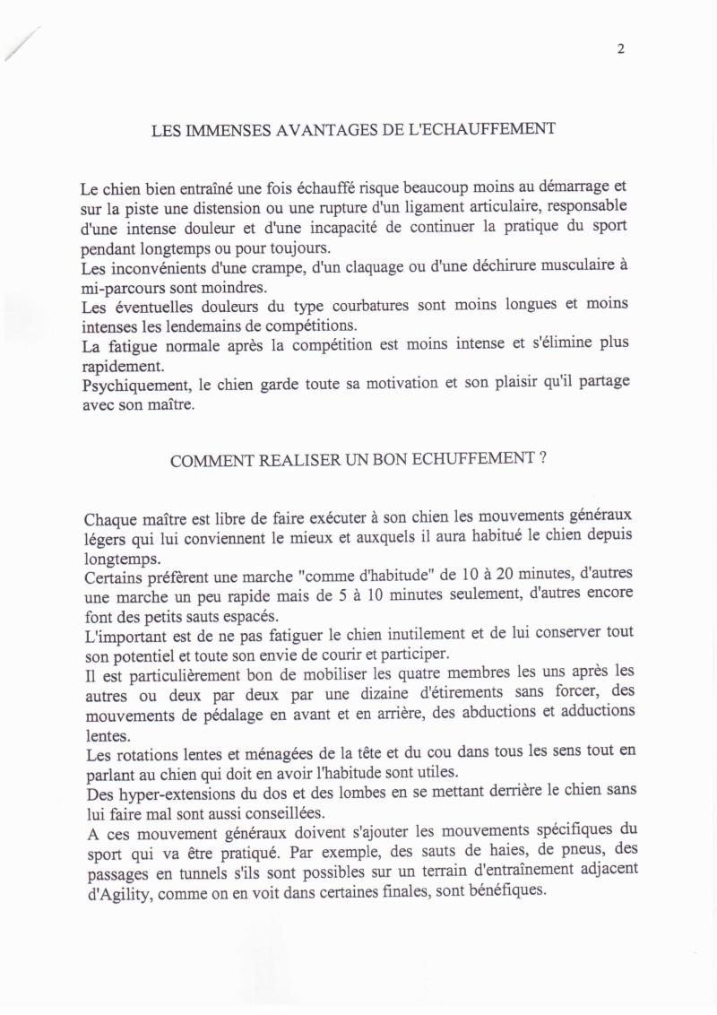L'ECHAUFFEMENT ET LA RECUPERATION DU CHIEN DE SPORT 1235cn15