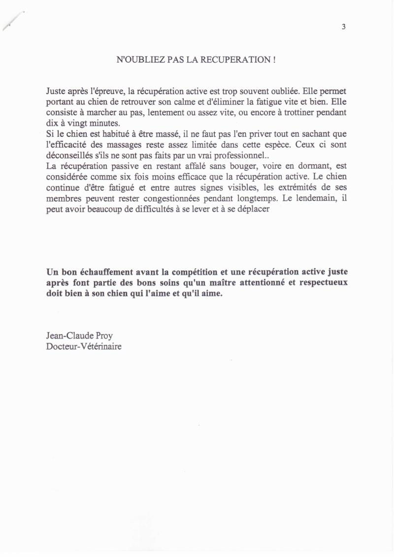 L'ECHAUFFEMENT ET LA RECUPERATION DU CHIEN DE SPORT 1235cn17