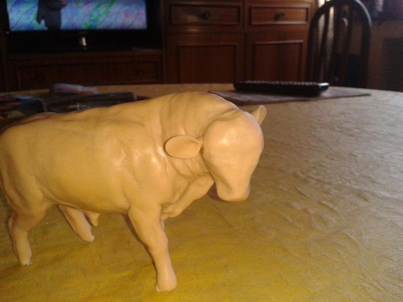 Modeling an auroch bull Uro1010
