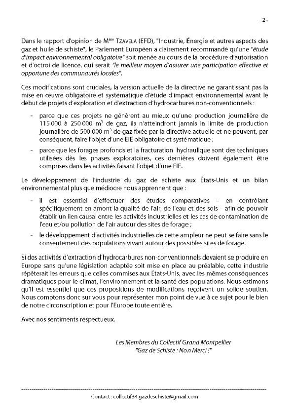 Directive EIE : interpellation des EuroDéputés P210