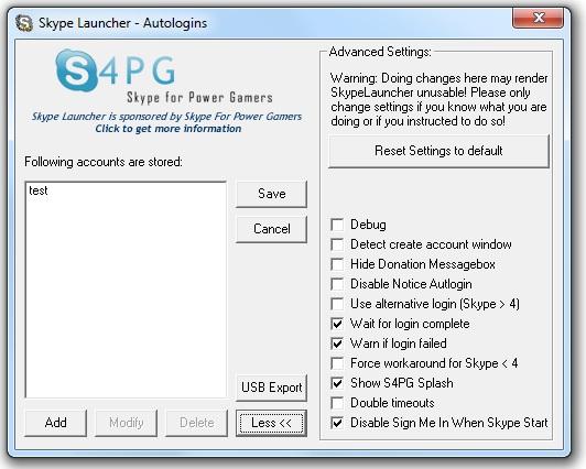 Launcher for Skype 1.6.7 36833f10