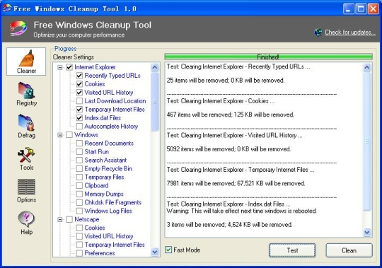 "Free Windows Cleanup Tool - Ο ""κλώνος"" του CCleaner 9257a410"