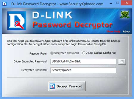 D-Link Password Decryptor 3.0 - Bρείτε τον κωδικό σας σε D-Link Modem / Router Dlinkp10