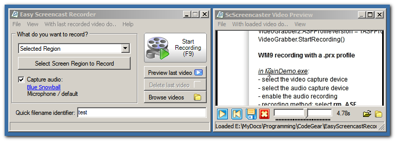 Easy Screencast Recorder 1.12.01 Esr10