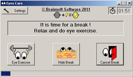 EyesCare 1.2.0.0 - Ένα μικρό εργαλείο που φροντίζει για τα μάτια σας Eyesca11