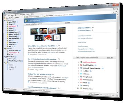 FeedDemon Lite 4.1.0.0 - Δείτε άρθρα από τις αγαπημένες σας ιστοσελίδες στην επιφάνεια εργασίας σας Fd3scr10