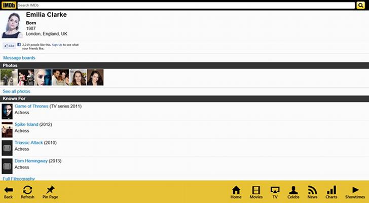 IMDb Touch 8 1.0.0.0 - Δείτε λεπτομέρειες σχετικά με νέες ταινίες και ηθοποιούς Imdb-t11