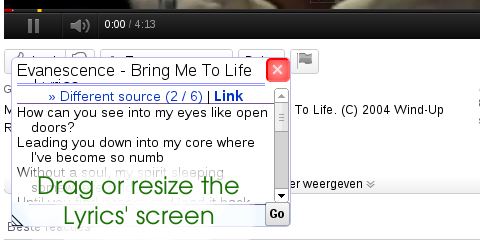 YouTube Lyrics 3.6.3.2 -  Βρείτε στίχους από βίντεο στο YouTube (Chrome, firefox, IE, Opera, Safari) Large10