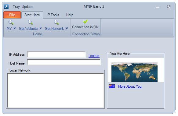 MyIP Basic 4.0.0.0 - Βρείτε IP Main0110
