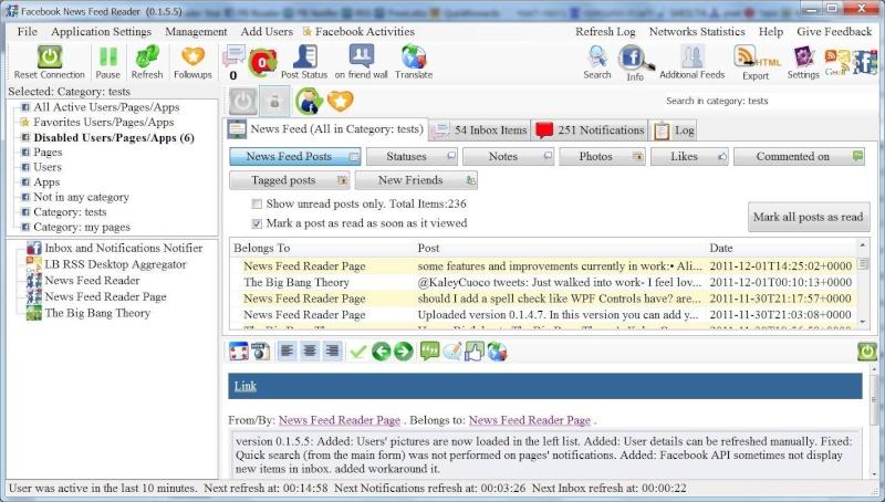 Facebook News Feeds Reader 0.5.1.0 - Μείνετε συνδεδεμένοι στο Facebook! Main_f10