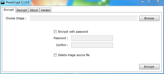 PhotoCrypt 1.3.0.0 - Προστατέψτε τις εικόνας σας με κωδικό πρόσβασης Photoc10