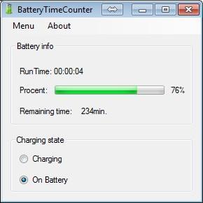 BatteryTimeCounter 1.0.0.0 [Nέο] - Παρακολουθήστε την κατάσταση της μπαταρίας του laptop σας Sample10