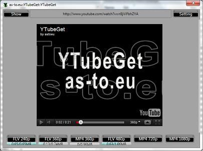 YTubeGet 0.0.2.4 - Κατεβάστε βίντεο από το Internet με την αρχική ποιότητα Screen10