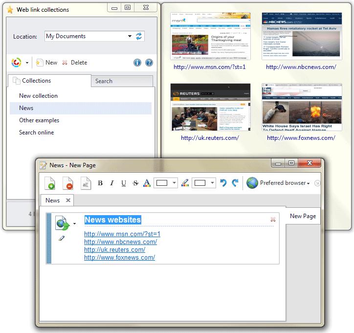 Web link collections 1.0.0.12 - Αποθηκεύστε τις αγαπημένα σας ιστοσελίδες Screen11