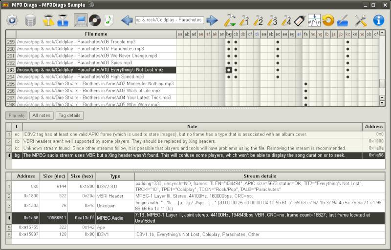 MP3 Diags 1.0.12.079 - Ένα εξελιγμένο πρόγραμμα επεξεργασίας ετικετών Screen13
