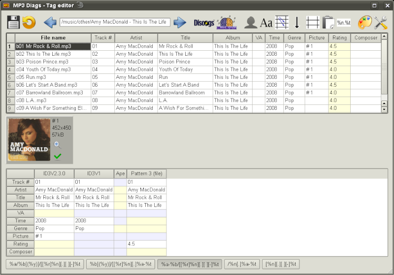 MP3 Diags 1.0.12.079 - Ένα εξελιγμένο πρόγραμμα επεξεργασίας ετικετών Screen14