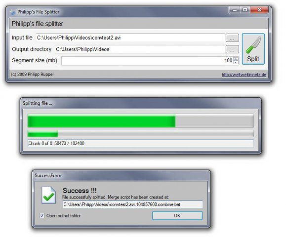 Free File Splitter 5.0.1189 Splitt10