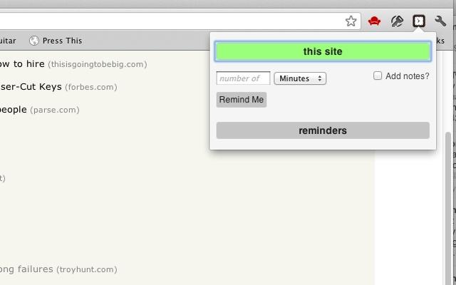 Site Reminder 0.3 - Σας υπενθυμίζει ιστοσελίδες που έχετε επισκεφτεί Unname14
