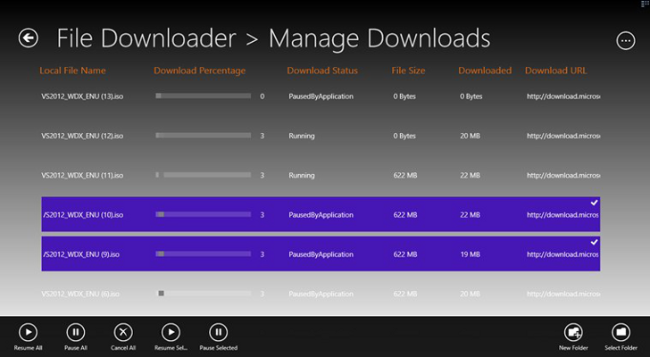 File Downloader 1.0.0.3 - Ένας download manager για τα Windows 8 Window18
