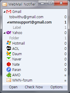 WebMail Notifier - (Για Gmail,Hotmail,Yahoo,AOL ...) (Firefox, Chrome, Οpera) Wmn-wi10