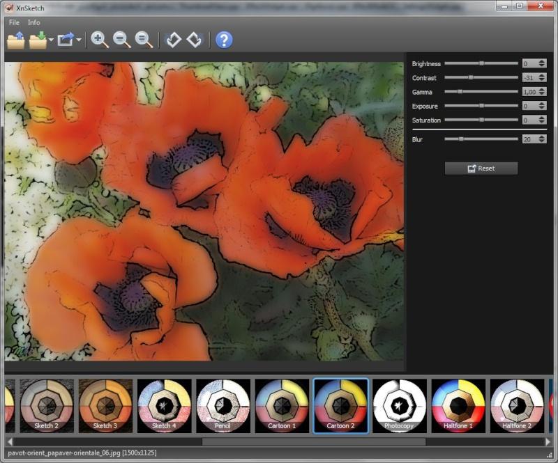 XnSketch 1.14 - Μετατρέψτε τις φωτογραφίες σας σε κινούμενα σχέδια Xnsket10