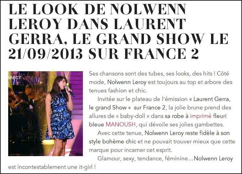 Laurent gerra invite Nolwenn dans son show Captu109