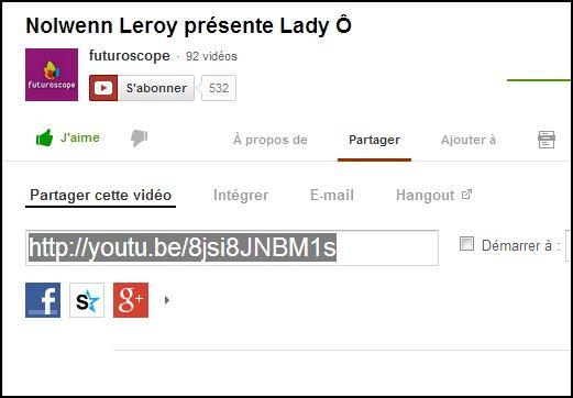 info pour mettre une vidéo venant de Youtube Captur68