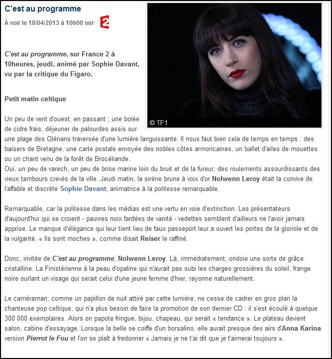 France 2 -C'est au programme le 18 avril  Captur78