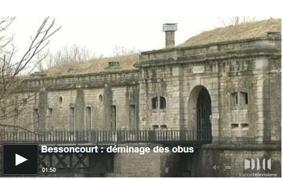 Le fort de Bessoncourt (Belfort) renfermait quantité de munitions Shot0013