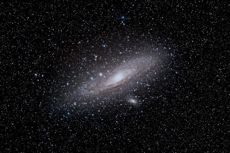 M31 avec objectif de 200mm, ouvert à 2.8 M31410