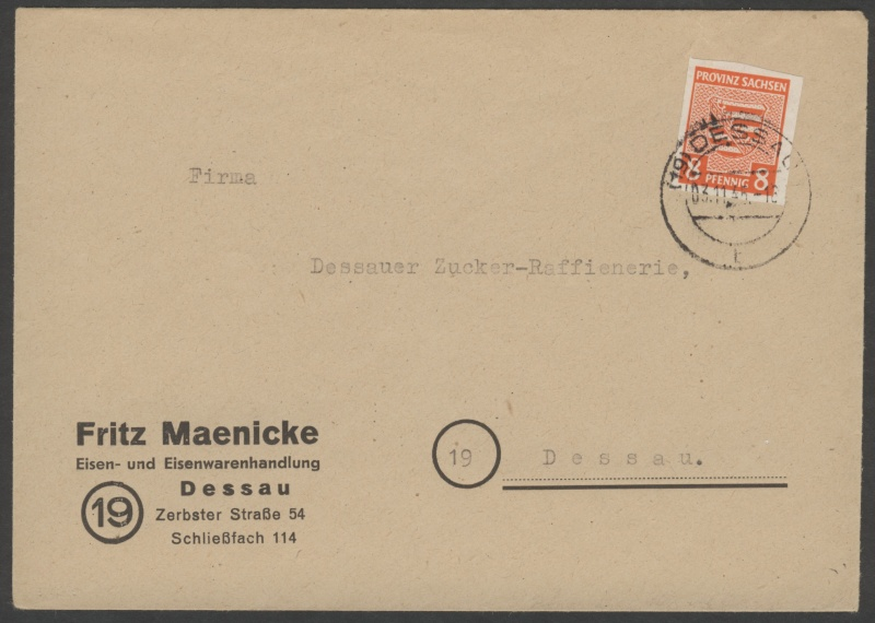 Provinz Sachsen -Sowjetische Besatzungszone Provin10