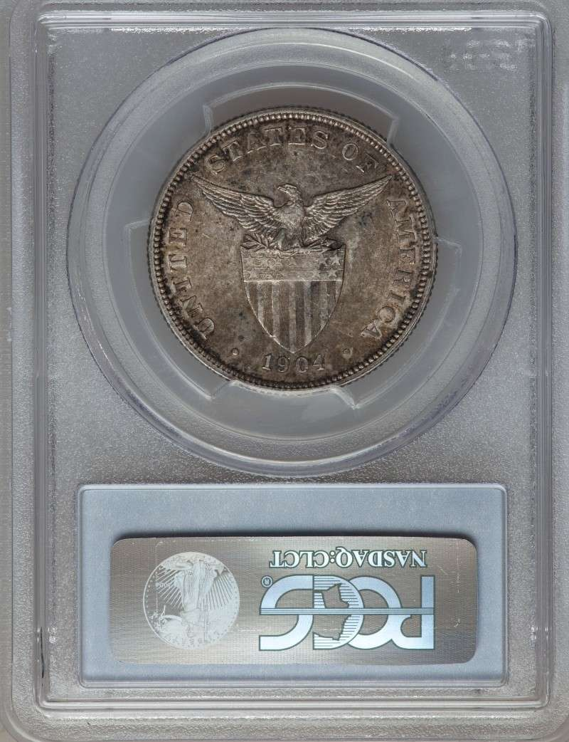 1904 USPI 50 Centavos PCGS-graded AU55 For Sale Ph190411