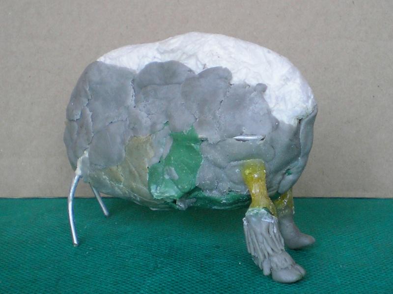 Bison-Kuh in eigener Modellierung für die Figurengröße 7 cm 137e4c11
