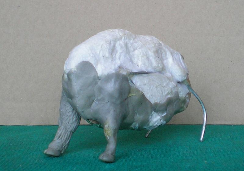 Bison-Kuh in eigener Modellierung für die Figurengröße 7 cm 137e4e10