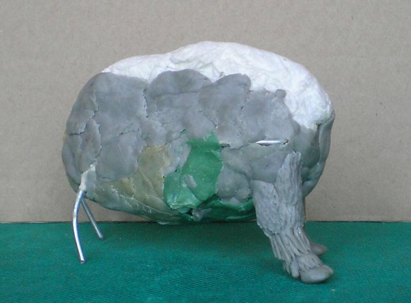 Bison-Kuh in eigener Modellierung für die Figurengröße 7 cm 137e4e11