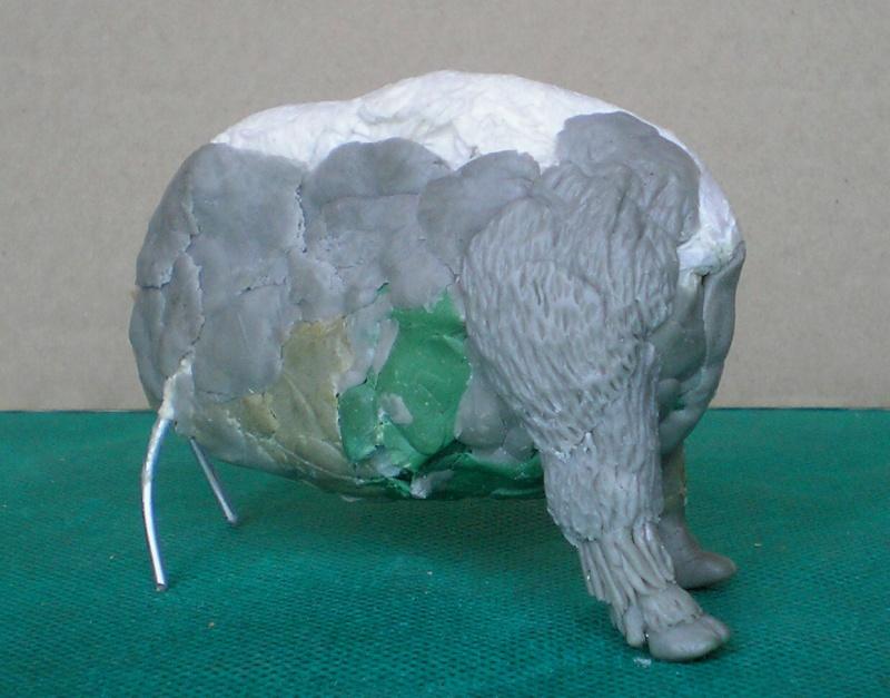 Bison-Kuh in eigener Modellierung für die Figurengröße 7 cm 137e4f10