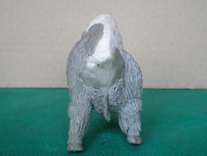 Bison-Kuh in eigener Modellierung für die Figurengröße 7 cm 137e4h10