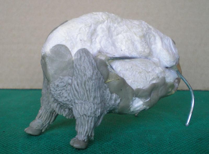 Bison-Kuh in eigener Modellierung für die Figurengröße 7 cm 137e4h11