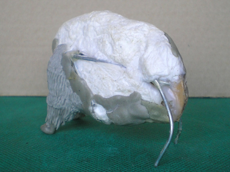 Bison-Kuh in eigener Modellierung für die Figurengröße 7 cm 137e4h12