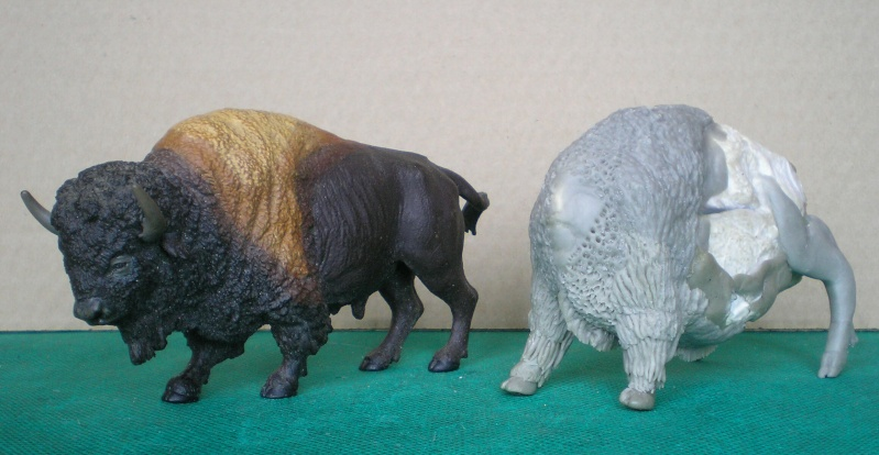 Bison-Kuh in eigener Modellierung für die Figurengröße 7 cm 137e4h18