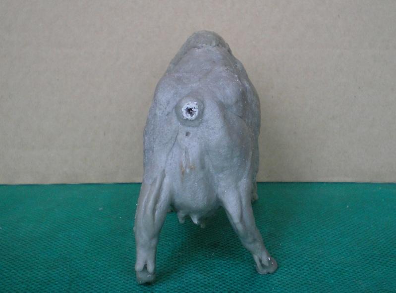 Bison-Kuh in eigener Modellierung für die Figurengröße 7 cm 137e4h24