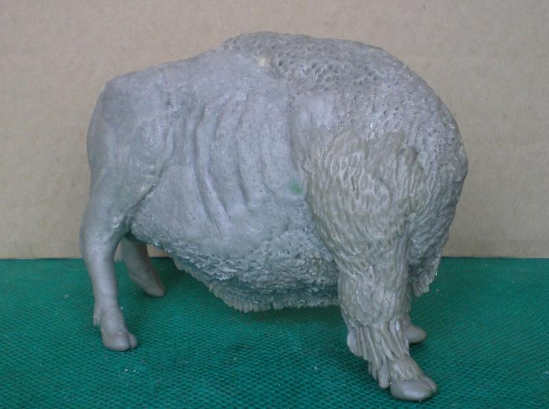 Bison-Kuh in eigener Modellierung für die Figurengröße 7 cm 137e4h26