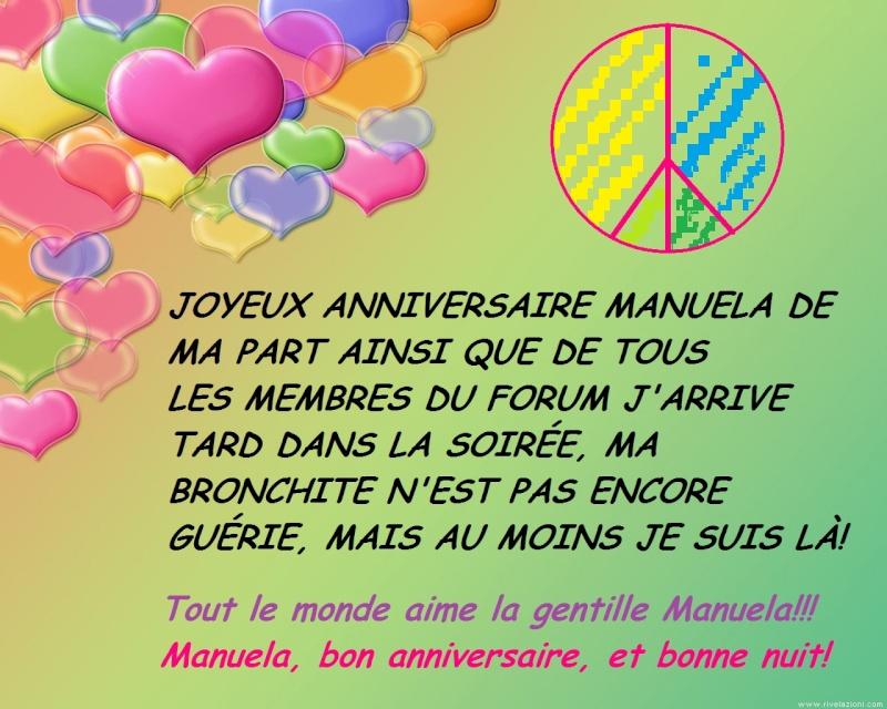 Joyeux Anniversaire A Notre Amie Manuela Vendredi 8 Mars