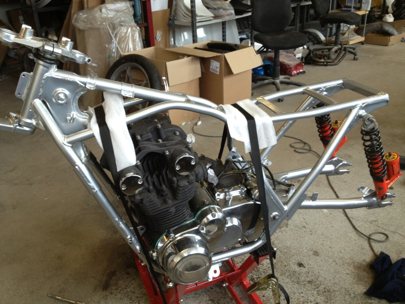 gs550 7k miles cafe racer build 910
