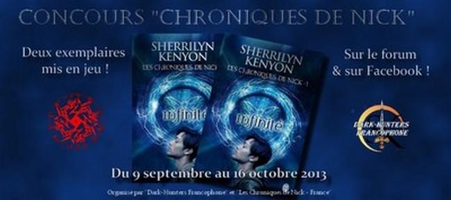 Les Chroniques de Nick - Tome 1 : Infinité de Sherrilyn Kenyon Concou12