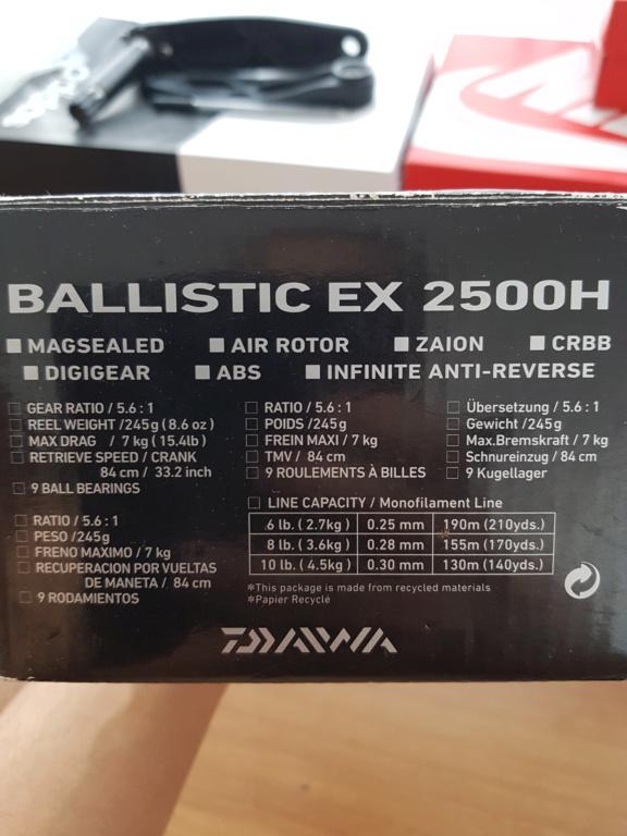 [Vendo] daiwa ballistic 2500h ex 20191017