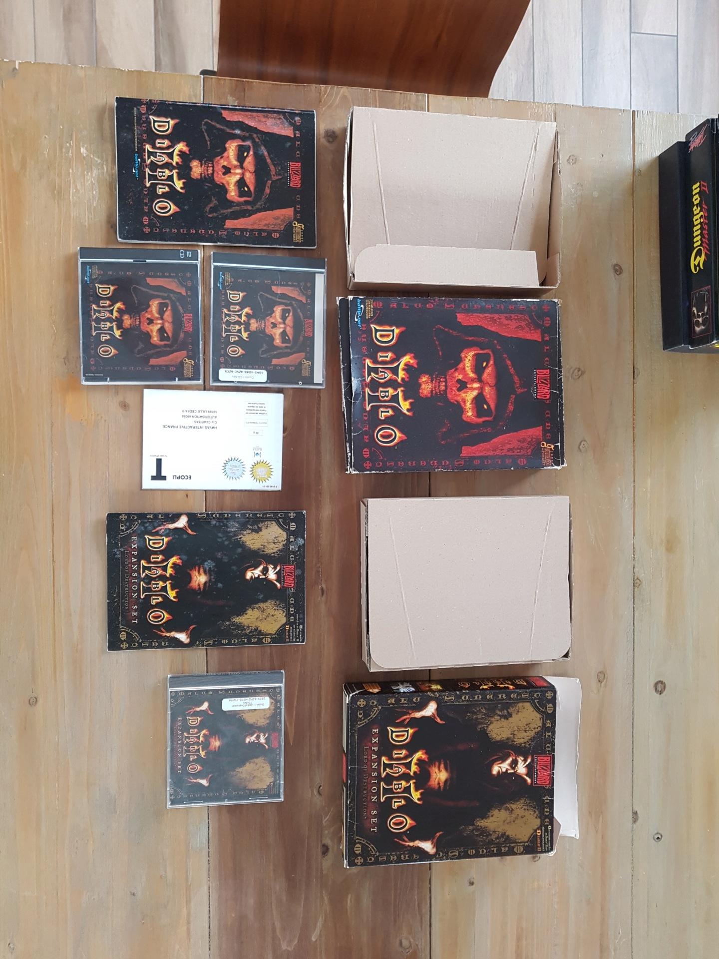 [vds] Jeux PC big box Might & Magic / Arcanum / Oddworld / Zork Nemesis / King's quest / Diablo II + extension etc...... 20200110