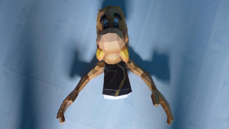 Papercraft (Maquette en carton) avec Astérix et Idéfix P1000510