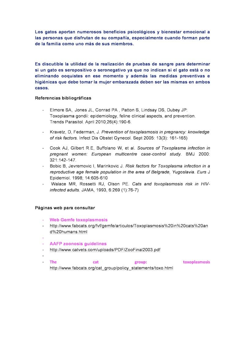 Toxoplasmosis, gatos y mujeres embarazadas. TODO lo que deberías saber. Page-410